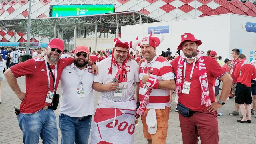 Фанаты сборной Польши