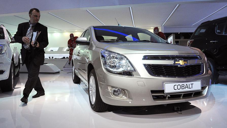 Автомобиль Chevrolet Cobalt на Московском автосалоне, 2012 год