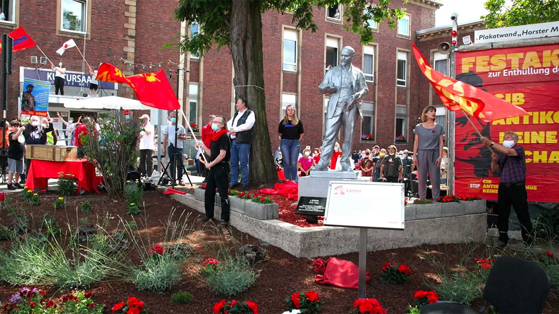 Двухметровая статуя Владимира Ленина установлена в городе Гельзенкирхен