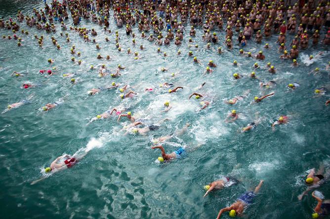 22 августа. Ежегодный заплыв на полтора километра в Цюрихском озере.