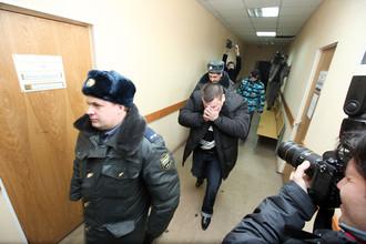 Денис Иванов в здании Невского районного суда Санкт-Петербурга.