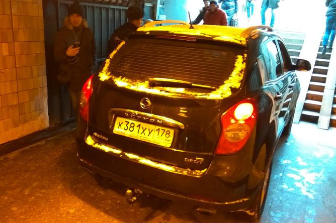 Ситуация в подземном переходе у станции метро «Московская» в Санкт-Петербурге, 21 февраля 2018 года