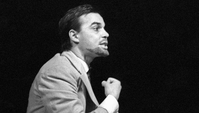 Юрий Рашкин в спектакле «Народовольцы» на сцене театра «Современник», 1967...