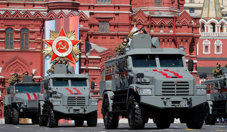 Бронеавтомобили «Патруль» во время генеральной репетиции военного парада Победы, 7 мая 2019 года