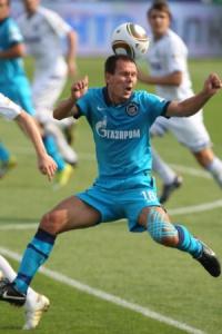 Константин Зырянов в матче с «Динамо»