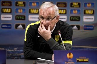 Главный тренер «Анжи» Гаджи Гаджиев на пресс-конференции
