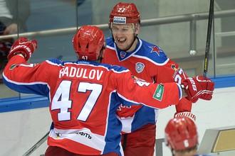 Игорь Григоренко и Александр Радулов соорудили единственный гол ЦСКА в матче с «Витязем»