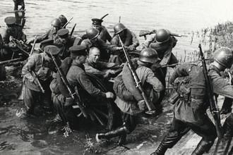 Переправа через р. Угру. Осень 1941 года