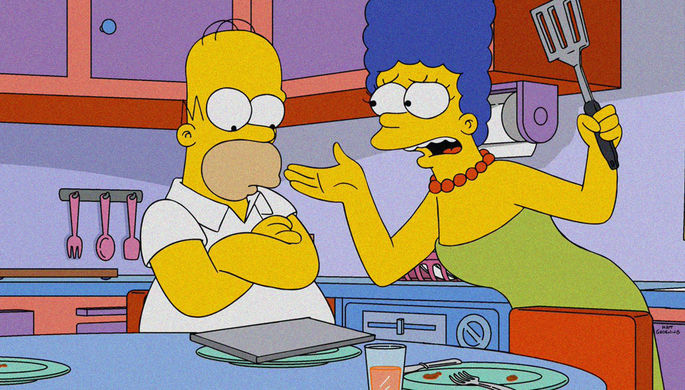 Домохозяйка Мардж Симпсон в мультсериале «Симпсоны»