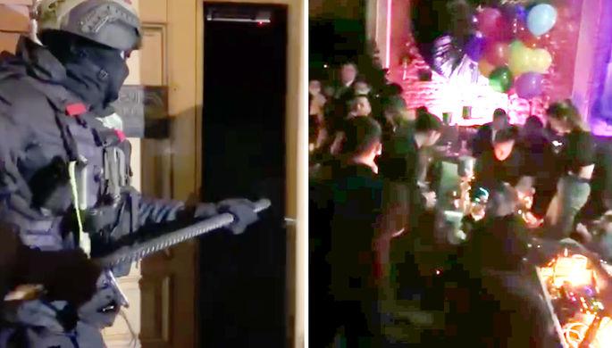 Постучали в дверь кувалдой: ОМОН провел рейд по столичным барам