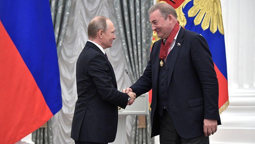 Владимир Путин и Владислав Третьяк