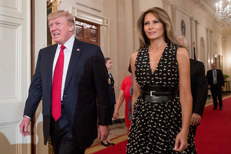 Дональд Трамп и Меланья Трамп в Белом доме, апрель 2017 года