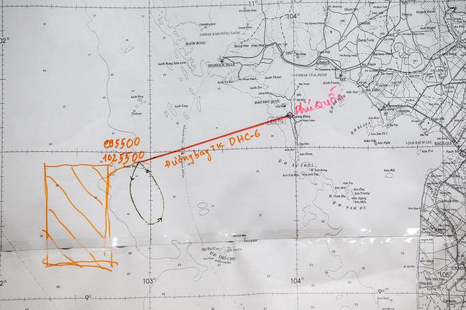 Карта полета во время пресс-конференции по поисковой операции Boeing-777 авиакомпании Malaysia Airlines рейса MH370, март 2014 года