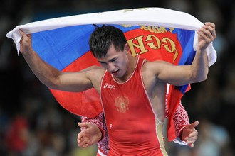 Роман Власов после завоевания золота на Играх в Лондоне