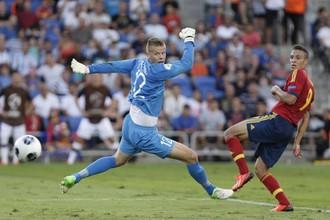 Родриго открывает счет в матче с норвежцами