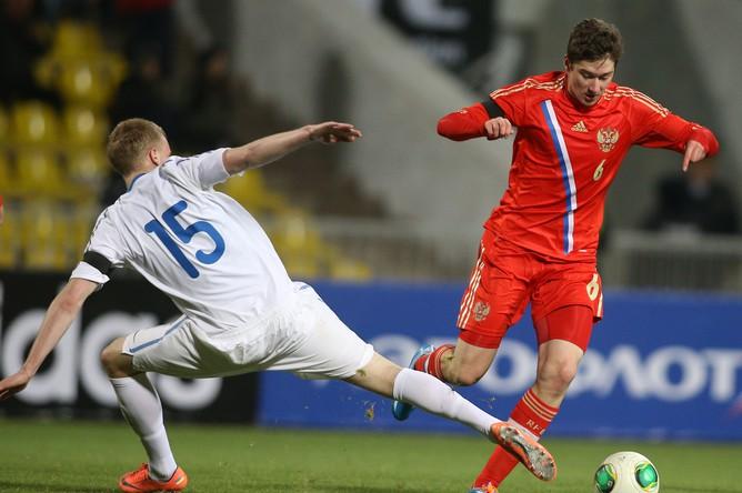 Молодежная сборная России по футболу одержала победу над Эстонией