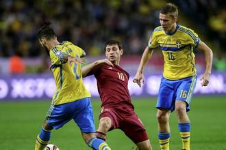 Первый матч сборных Швеции и России в нынешнем отборе к Евро закончился вничью
