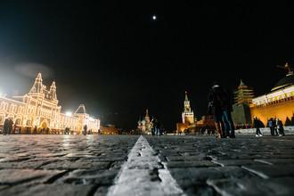 Акция «Час Земли» на Красной площади в Москве
