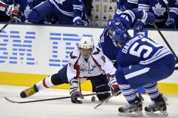 Александр Овечкин в провальном для него матча с «Торонто»