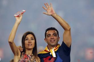 Хави вместе со своей женой