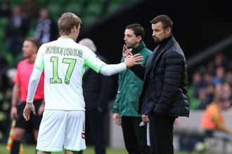 Сергей Семак (справа) попробует вывести «Уфу» в финал Кубка России