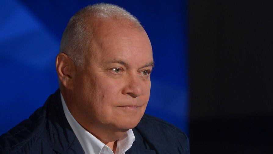 Генеральный директор МИА «Россия сегодня» Дмитрий Киселев во время интервью мэра Москвы Сергея Собянина, 2017 год