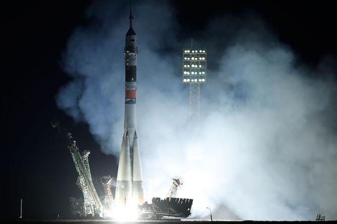 Запуск ракеты-носителя «Союз-ФГ» с кораблем «Союз МС-15» на космодроме Байконур, 25 сентября 2019 года