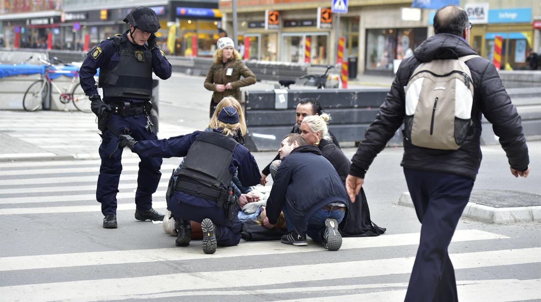 Момент атаки попал навидео— Теракт вСтокгольме