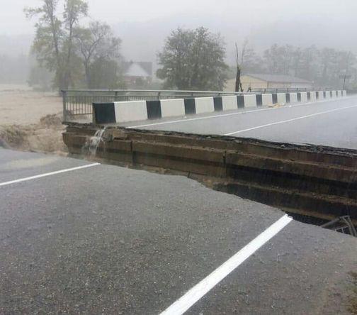 Последствия наводнения в Туапсе, 24 октября 2018 года