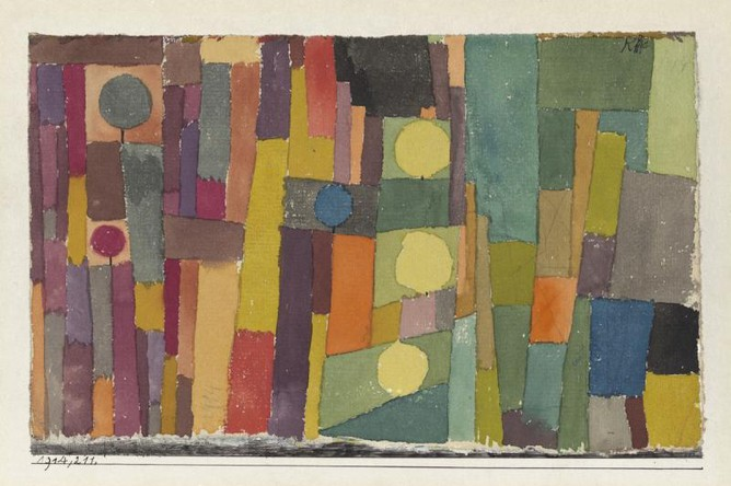 Пауль Клее. «Шаг». 1931. Холст, масло, карандаш. Центр Пауля Клее (Берн, Швейцария)