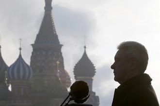Мэр Москвы Сергей Собянин на Красной площади, ноябрь 2015-го