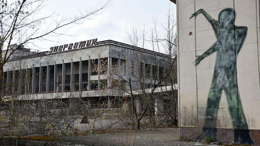 Заброшенный Дворец культуры «Энергетик» на территории зоны отчуждения Чернобыльской АЭС, 2017 год