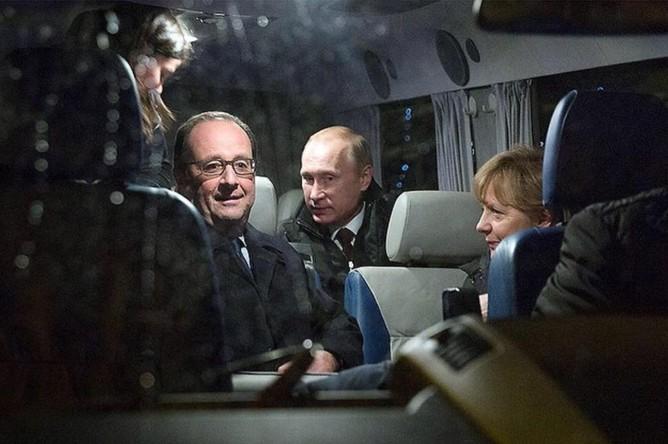 Канцлер Германии <b>Ангела Меркель</b> (20 тыс. подписчиков) завела страницу в социальной сети Instagram только 3 июня 2015 года, за один день на нее подписалось 20 тыс. человек. Одной из первых фотографий, которую опубликовала Меркель, стало фото из Москвы, на котором она запечатлена вместе с Путиным и Олландом после длительных переговоров в Кремле в феврале 2015 года