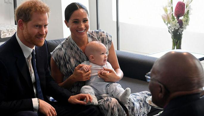 Герцогиня Сассекская Меган с сыном Арчи во время встречи с архиепископом Десмондом Туту, 25 сентября 2019 года