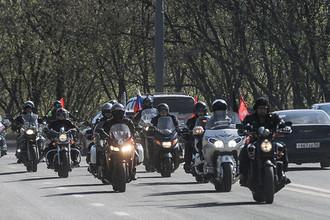 Старт мотопробега до Берлина в честь Дня Победы