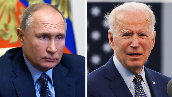 Президент России Владимир Путин и президент США Джо Байден (коллаж)