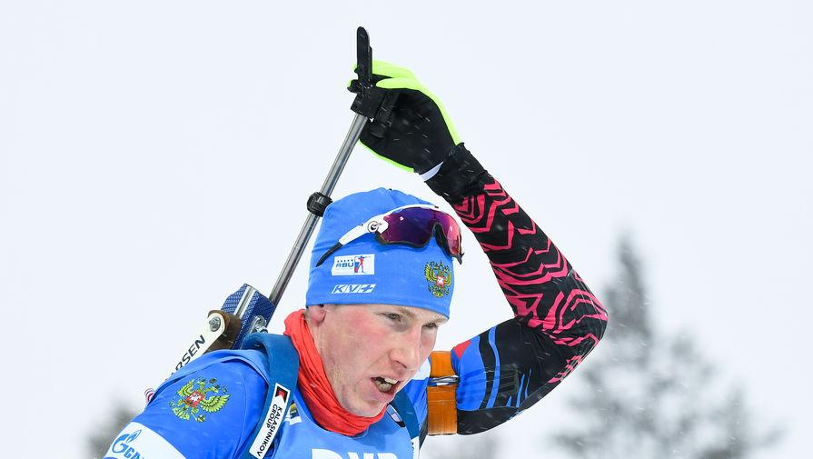 Российский биатлонист Александр Поварницын
