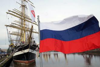 Барк «Крузенштерн» в порту Калининграда