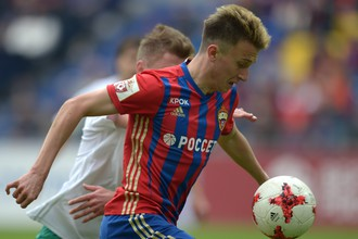 Александр Головин был одним из лучших игроков ЦСКА в матче с «Томью»
