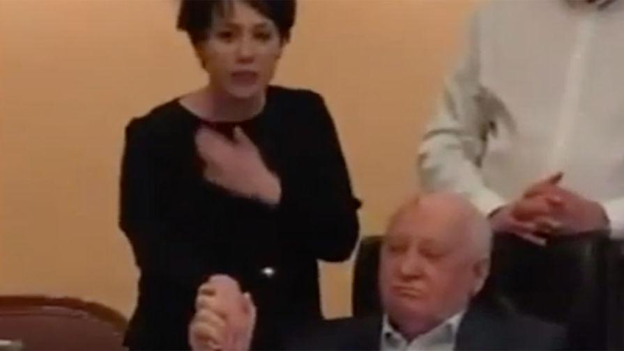Чулпан Хаматова на 88-летии Михаила Горбачева, 2 марта 2019 года