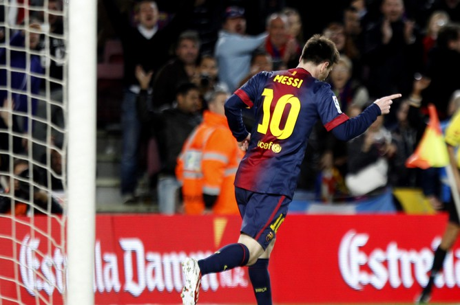 Лео Месси только что забил второй мяч