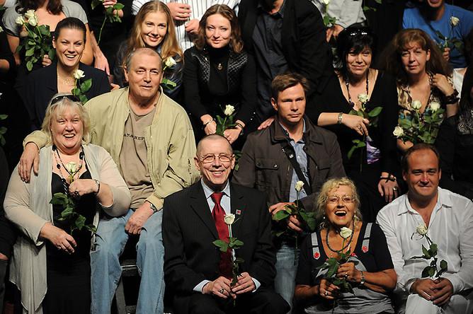 Сбор труппы Театра на Таганке под руководством Золотухина. 2011г.