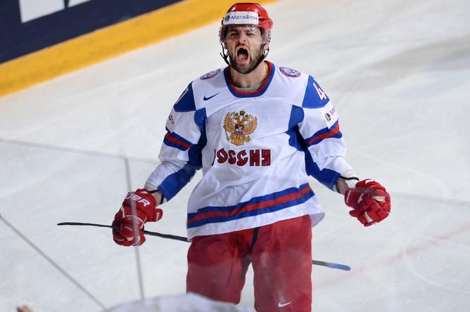 Александр Радулов на 26-й минуте распечатал ворота словаков.