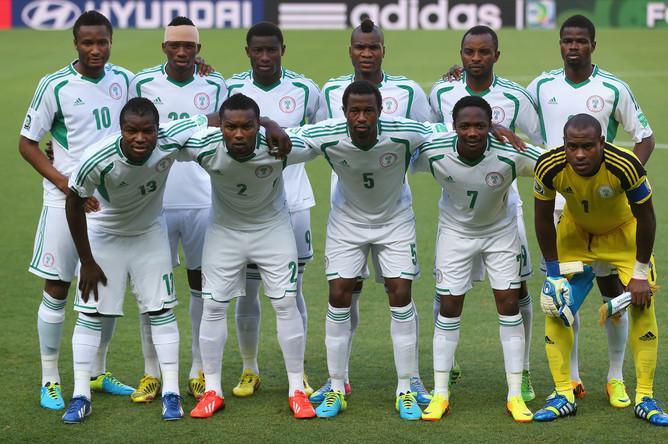 Стартовый состав сборной Нигерии.