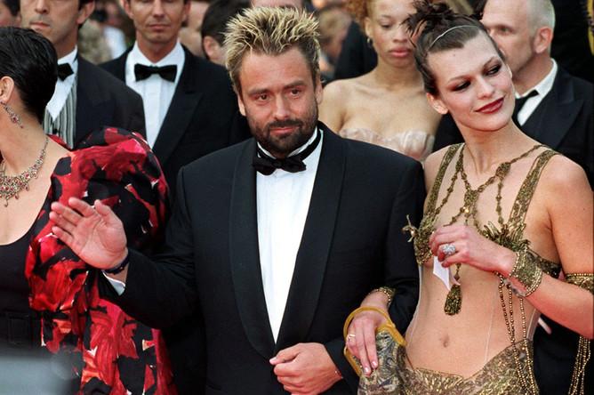 Люк Бессон с бывшей супругой Миллой Йовович