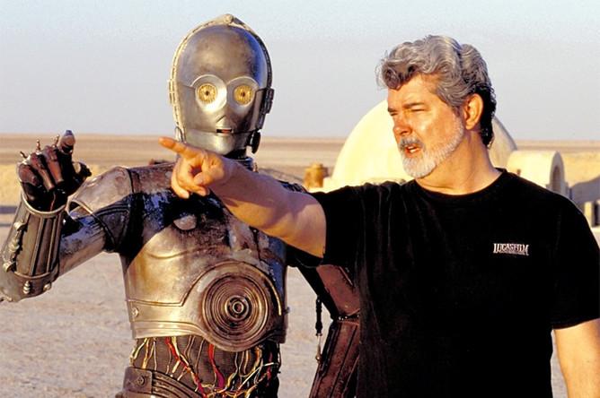 Джордж Лукас на съемках фильма «Звездные войны»
