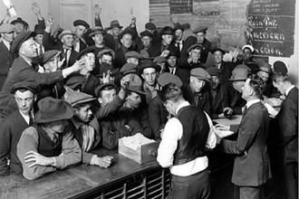 Биржа труда во время Великой депрессии