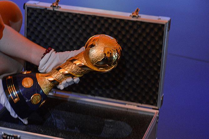Кубок Конфедераций FIFA на мероприятии, приуроченном к 500 дням до старта в России Кубка Конфедераций 2017 года, в Москве