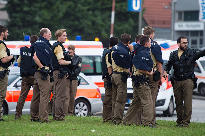 Ситуация около ТЦ Olympia в Мюнхене, где произошла стрельба