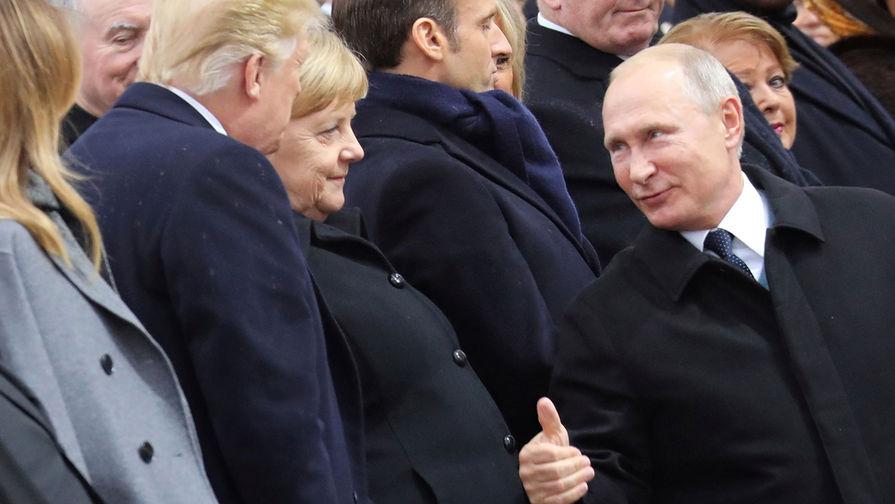 Путин, Трамп, большой палец, Париж